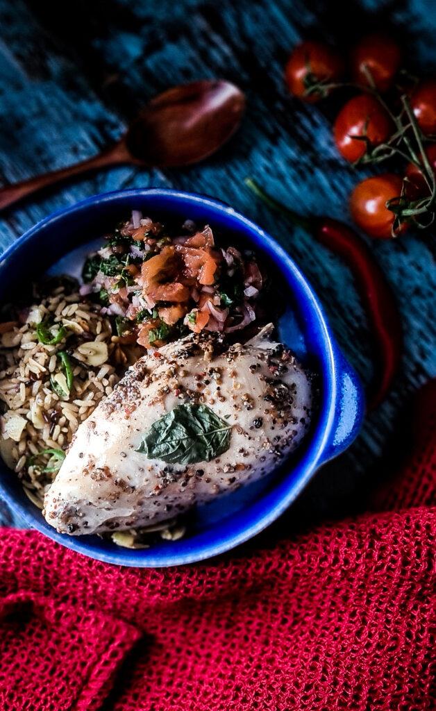 Kurczak ryz warzywa