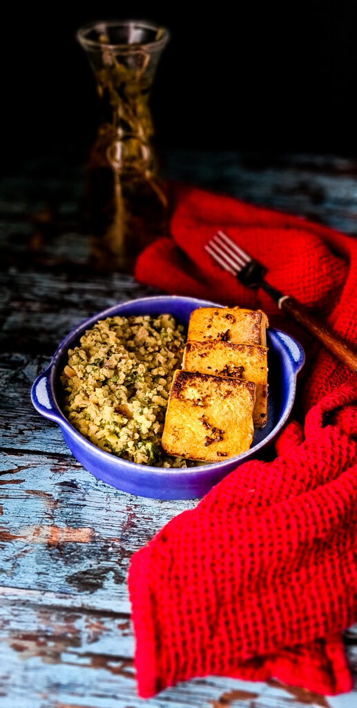 Tofu z kalafiorem bez dodatku soli