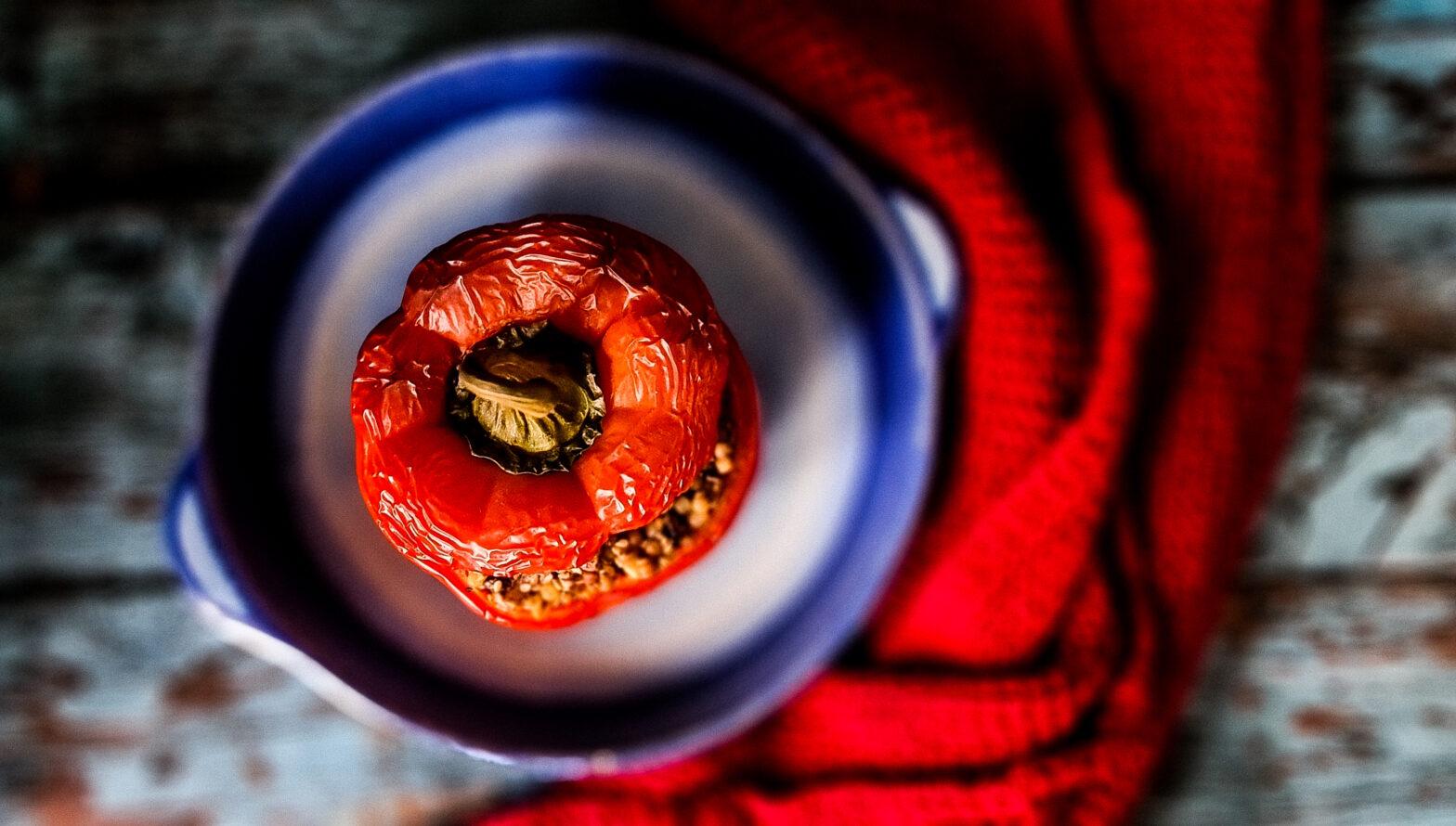 Papryka faszerowana orzechami bez soli