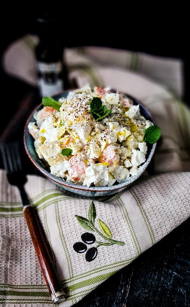 Grecka salatka ziemniaczana