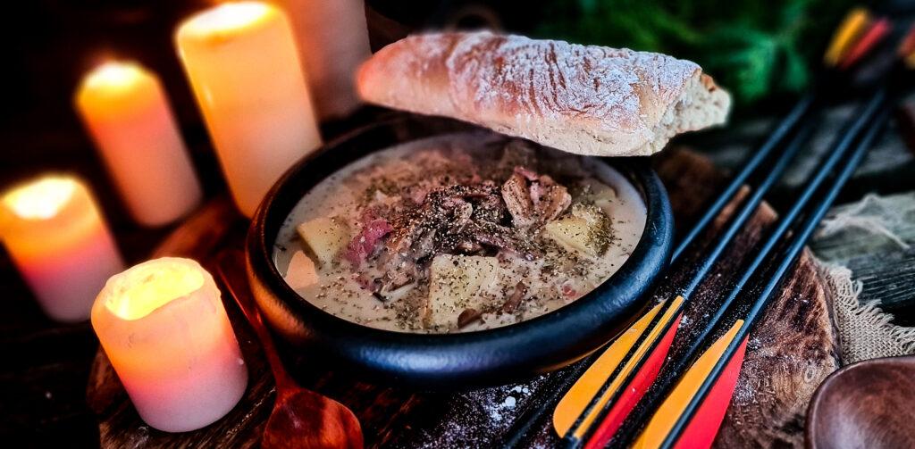 Bulka elfow i zupa