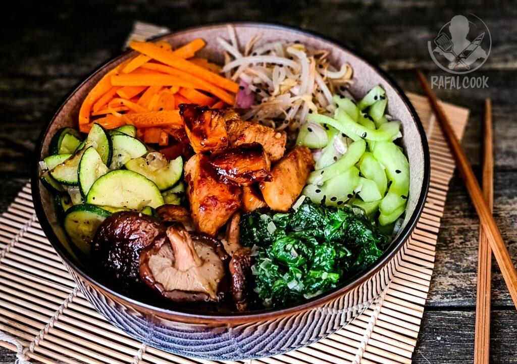 Miska warzyw i mięs