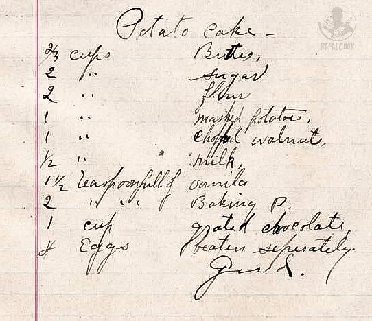 Orginalny przepis z 1912 roku