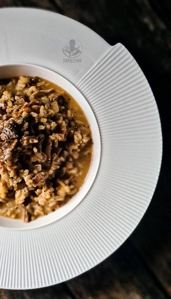 Ryz borowiki prosciutto