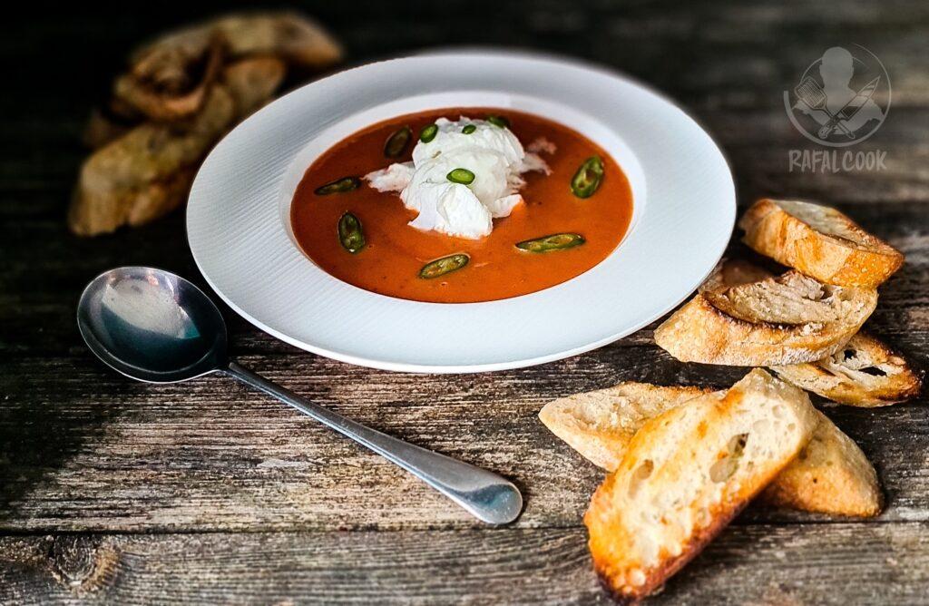 Zupa pomidorowa na zimno