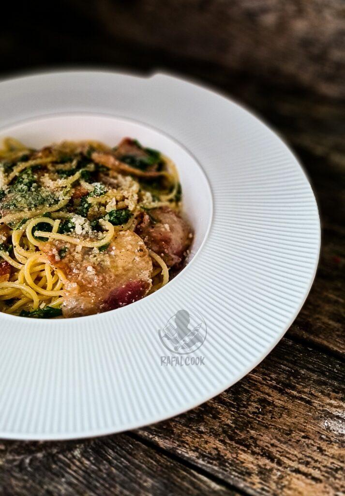 Guanciale spaghetti